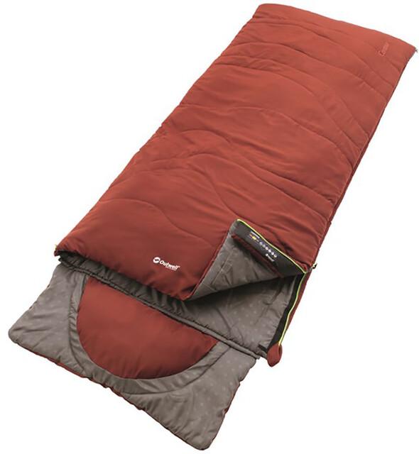 Outwell Contour Sleeping Bag Ochre Röd